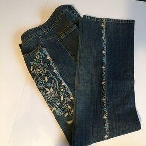 Jeans-Inc International-Size 8-Beads, Bling